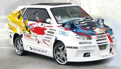 Mitsubishi Kuda Super Extreme Modifikasi Warna warni