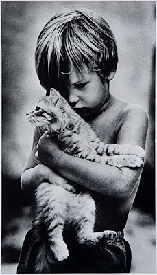 Boy with cat, 1979 (c) Bill Cavanaugh