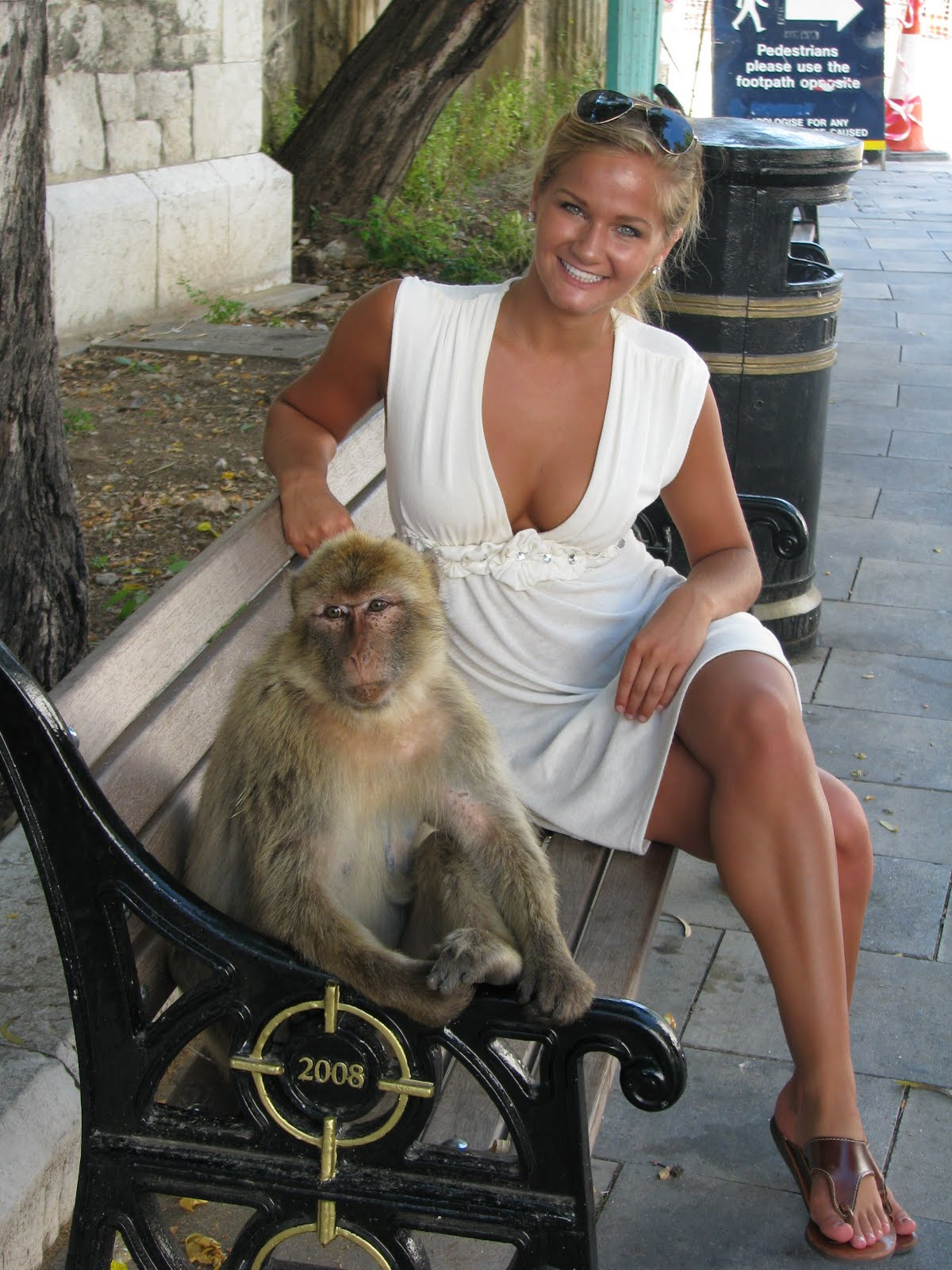 Gibraltar Me_with_my_newest_buddy-_a_Barbary_Ape_in_Gibraltar!