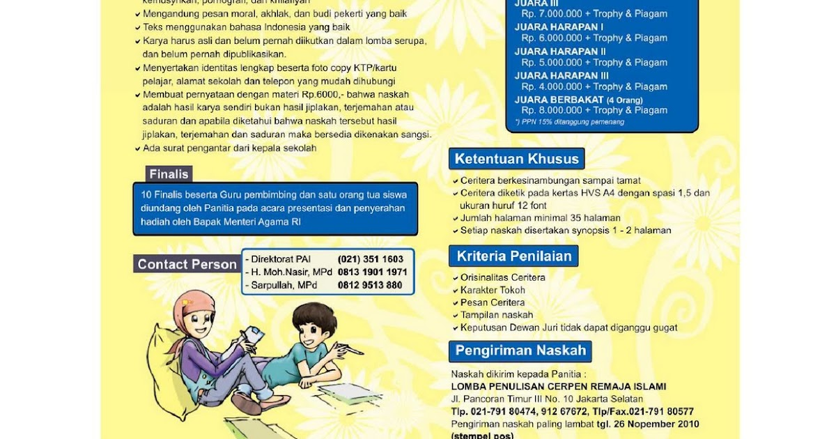 Mgmp Pai Smp Kabupaten Bekasi Ikuti Lomba Cerita Remaja