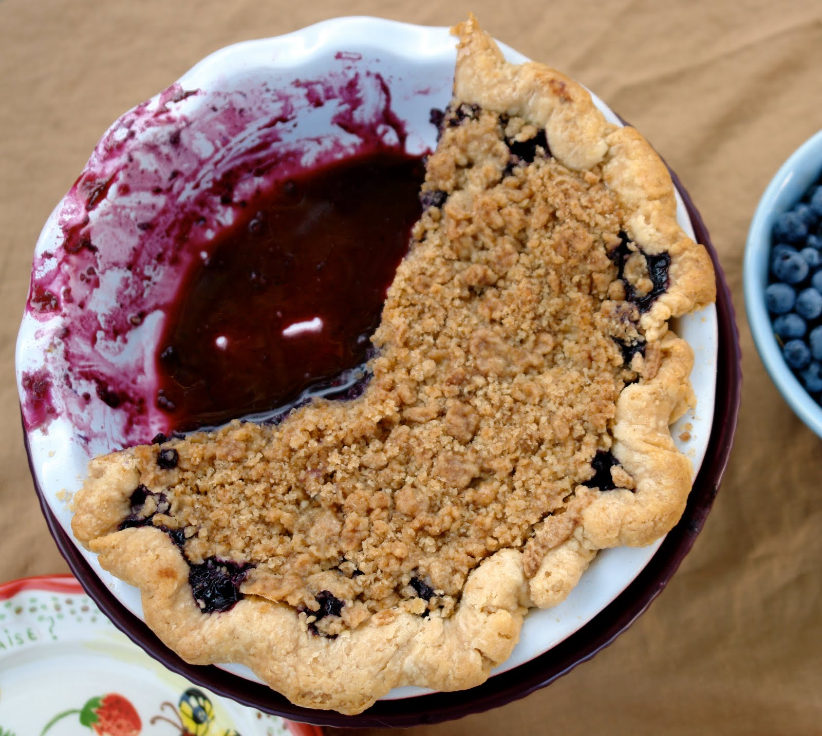 Voila! Blueberry crumble pie!