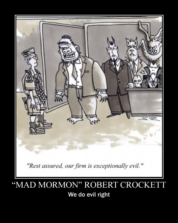 "Susan Dunes calls ""Mad Mormon"" Robert Crockett, ""Crazy Nurse Nancy"" Nancy ..."