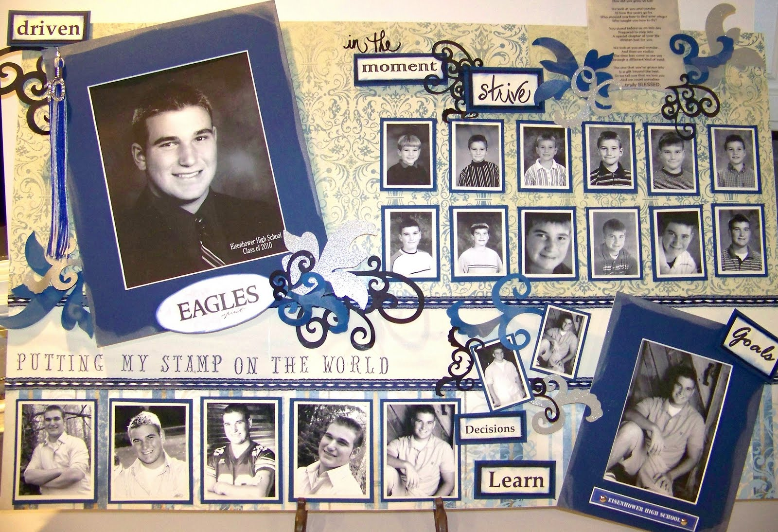 Creations From My Heart A Graduation Memory Board To