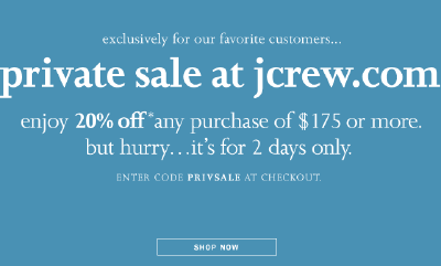 J. Crew Private Sale