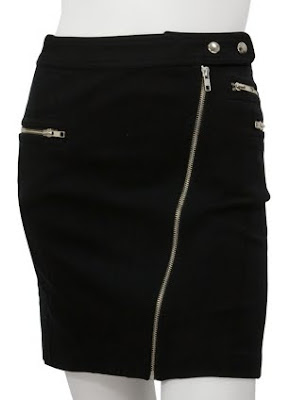 Zipper Detail Pencil Skirt