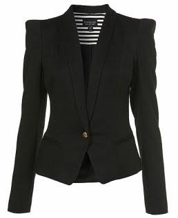 Peaked Shoulder Jersey Blazer