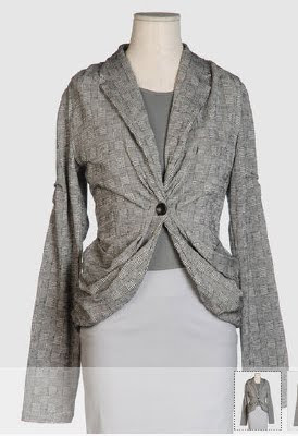 Gathered Draped Blazer