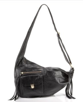 Asymmetric Leather Hobo