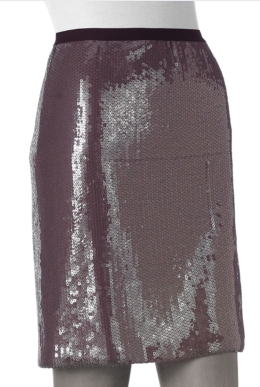Gray Sequin Skirt