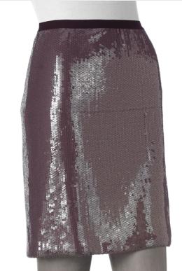 Gray Sequin Skirt