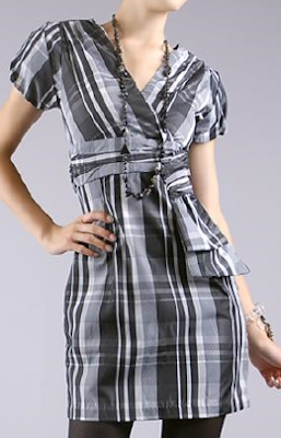 Plaid Oragami Style Dress