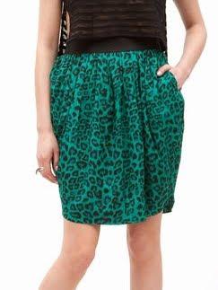 Jade Leopard Print Skirt