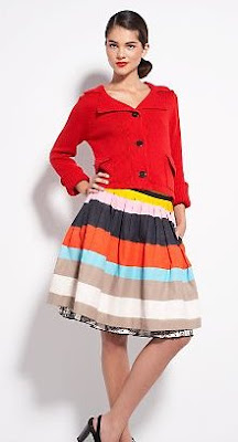 MultiStripe Circle Skirt