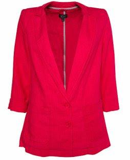 Berry Pink Linen Blazer