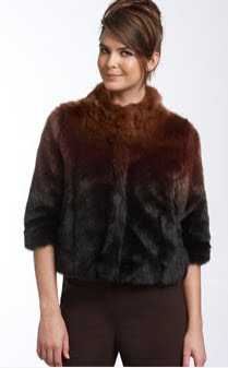 Ombré Faux Fur Jacket