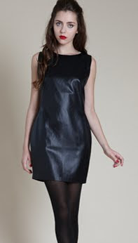 Black Leatherette Dress