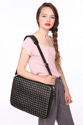 Studded Laptop Bag