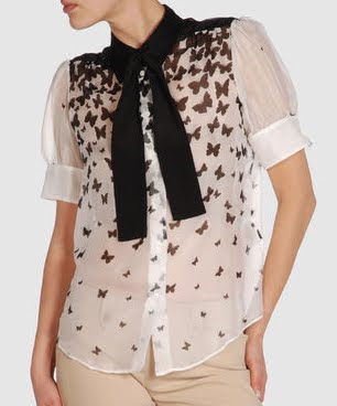 Sheer Butterfly Blouse