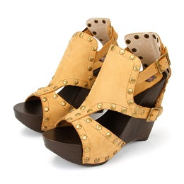 Wood Wedge Sandals