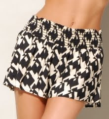 Oversized Print Houndstooth Shorts