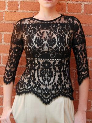 Lace Bodice Top