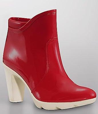 Red Heeled Rain Boot