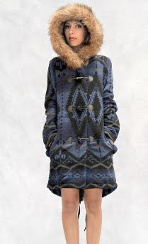Fur Trim Toggle Coat