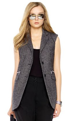 Sleeveless Tweed Vest