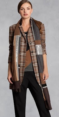 Plaid Riding Coat