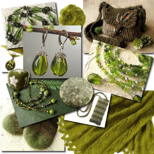 Green crafted items