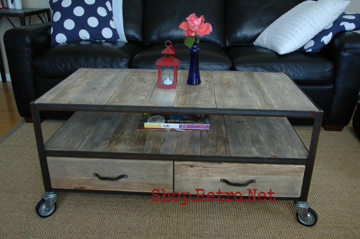 Vintage arizona vintage industrial inspired apartment for Small industrial coffee table