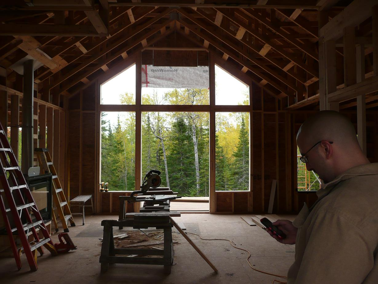 P And C Build A House Roof Done Interior Framed All