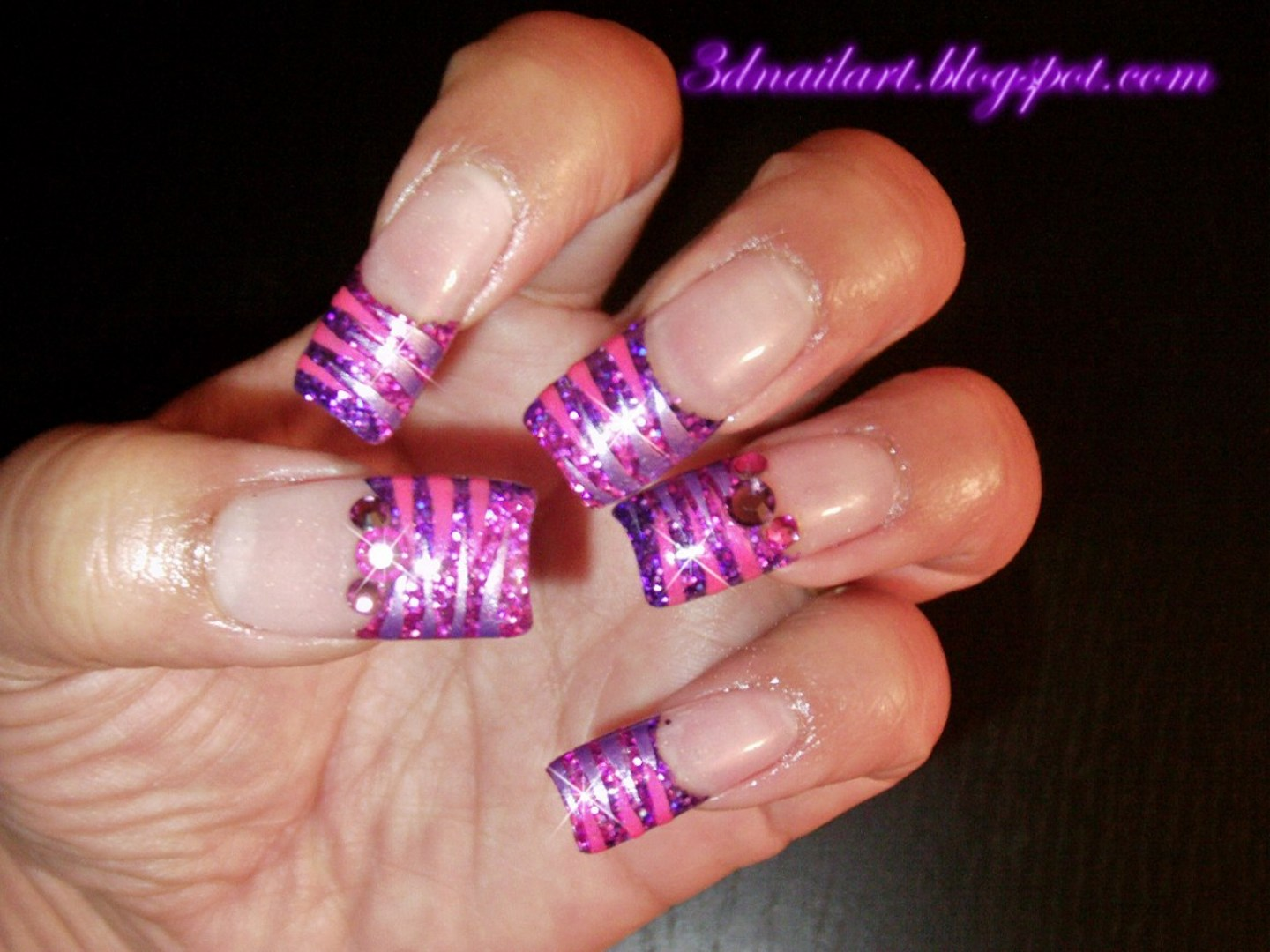 The Breathtaking Pink zebra print nail designs Images