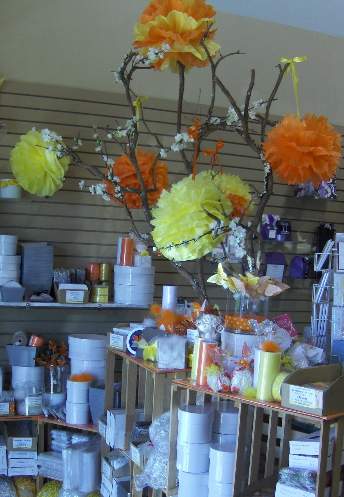 The Essential Packaging Store Blog Tissue Flowers Yellow And Orange
