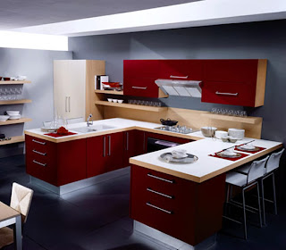 Luxury Home Interior Design: Contemporary Interior Kitchen Idea