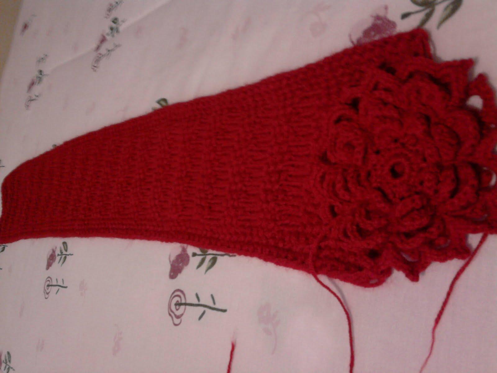 tejido de gancho bufandas