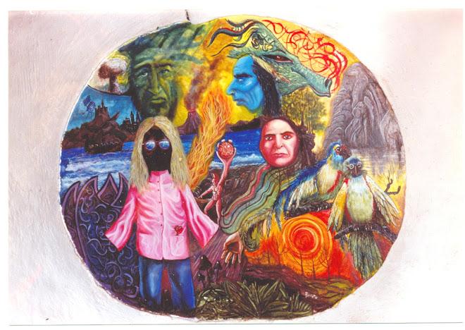 mural que pinte en el bar de matavenero
