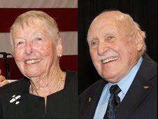 Retired NASA Dryden employees Betty Love and John McTigue