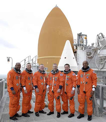 STS-129 crew on Launch Pad 39A