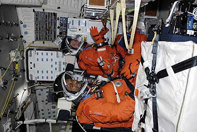 Mission Specialists Mike Foreman and Robert L. Satcher Jr.