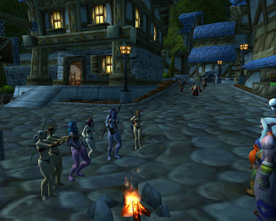 elf women wow naked dance party Elf and Human Women Dance Naked in Stormwind
