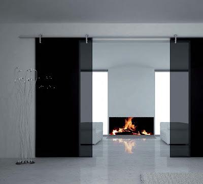 Fermeture de porte coulissante en verre