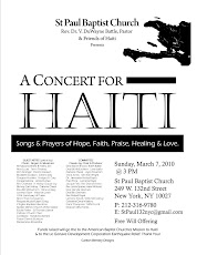 A Concert for Haiti Flyer