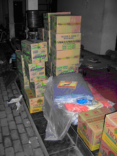The first aid goods from DeJavato for the quake survivors. - Dejavato Indonesia