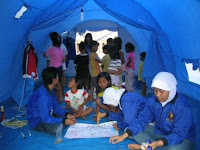 Playing inside the tent - Dejavato Indonesia