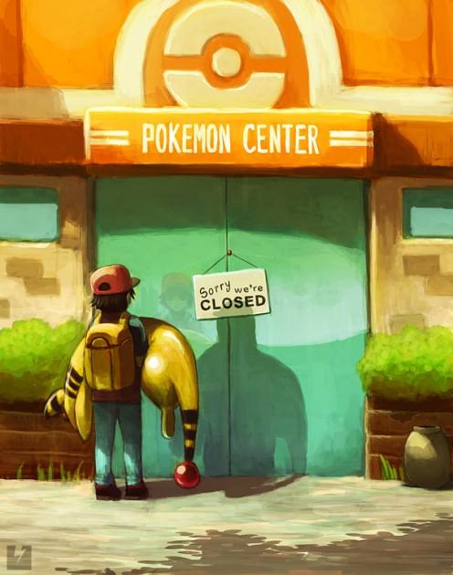 Attrapez les tous ! - Page 2 Pokemon+Center+closed