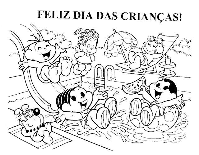 Turma da Mônica para colorir Dia das Crianças