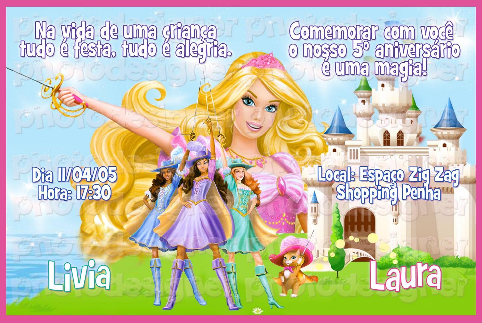Barbie E As 3 Mosqueteiras Para Decoupage Ou Paineis Decorativos