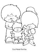 Desenhos religiosos para imprimir e colorir (families )