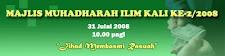 MUHADHARAH ILIM